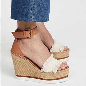 89792a42ddf See By Chloe Shoes - See by Chloe Glyn Leather Espadrille Wedge Sandal